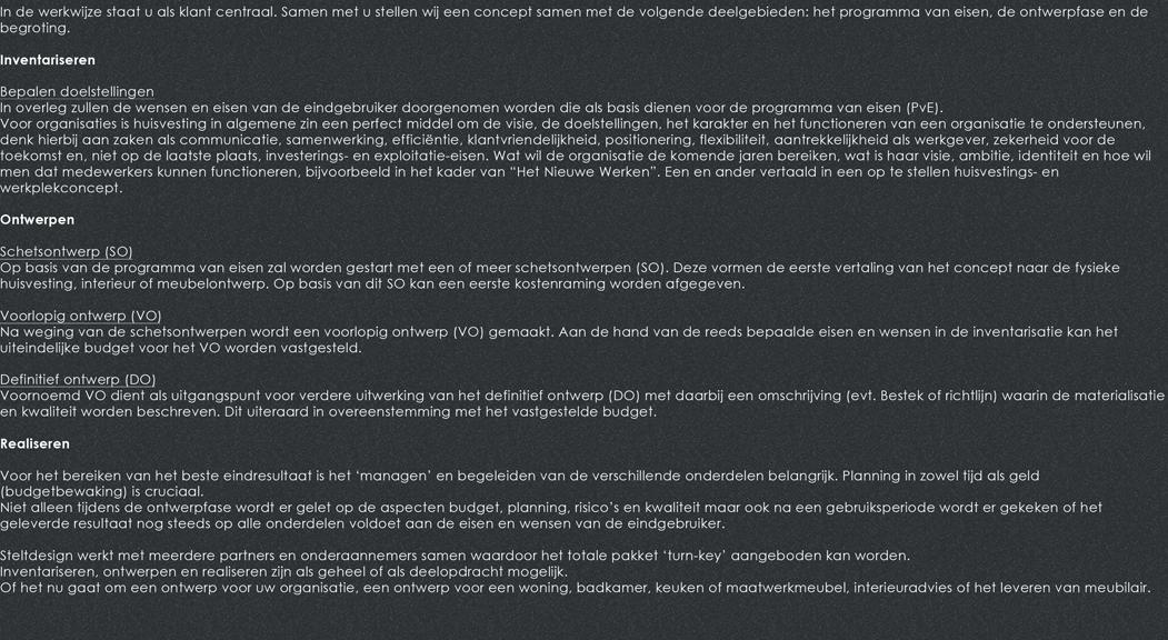 STELTDESIGN website tekst